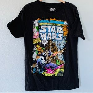 Star Wars Black Short Sleeved Tee Shirt Size Med